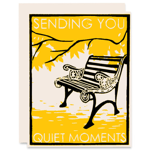 Quiet Moments </h6>Letterpress Card