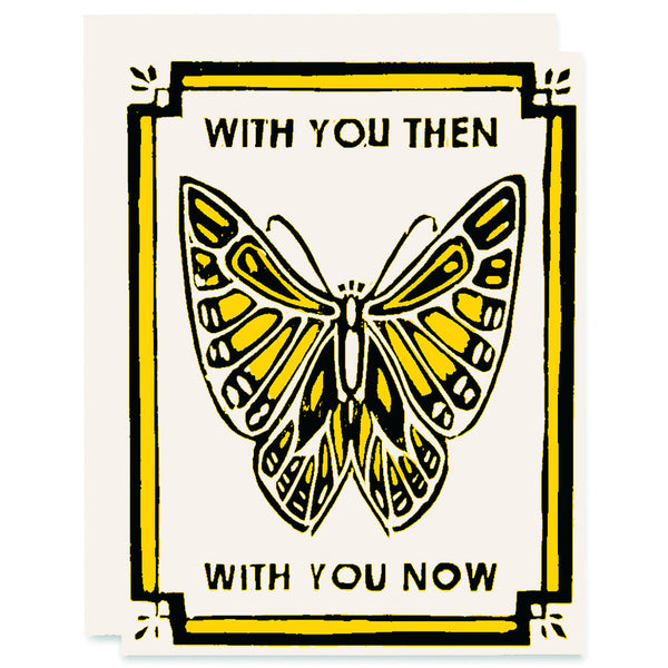 Then and Now </h6>Letterpress Card