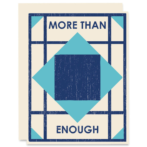 More Than Enough Letterpress Card