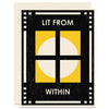 Lit From Within Letterpress Card
