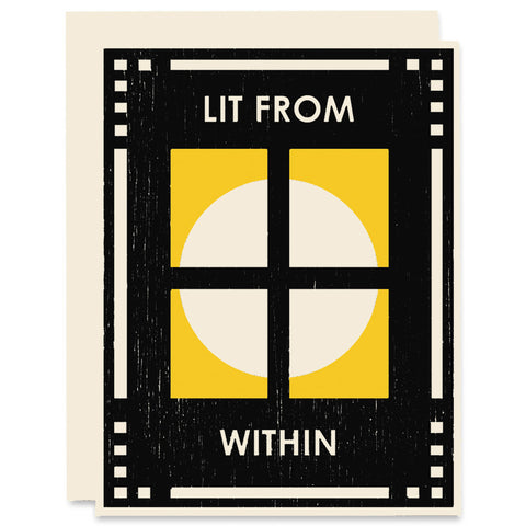 Lit From Within </h6>Letterpress Card