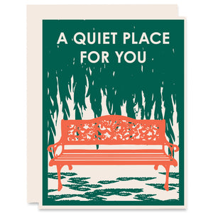 A Quiet Place Letterpress Card