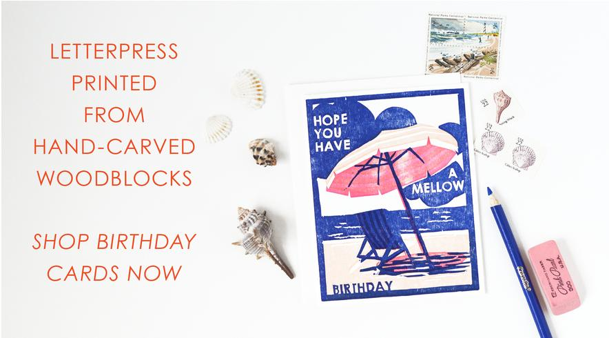 Heartell Press letterpress cards are made with hand-carved woodblocks