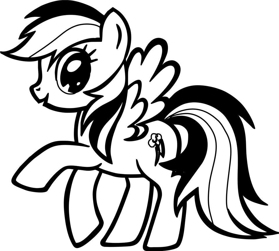 My Little Pony Coloring Pages Black And White : My little pony rainbow dash die cut vinyl sticker decal