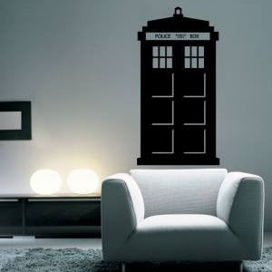 "Doctor Who Tardis Police Phone Booth Whovian - 23"" Die Cut Vinyl Wall Decal Sticker"