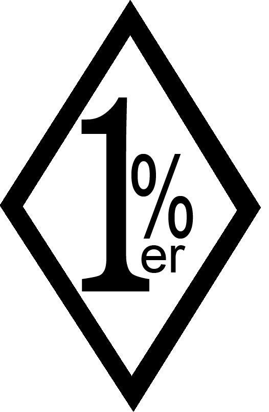 1%er - Die Cut Vinyl Sticker Decal
