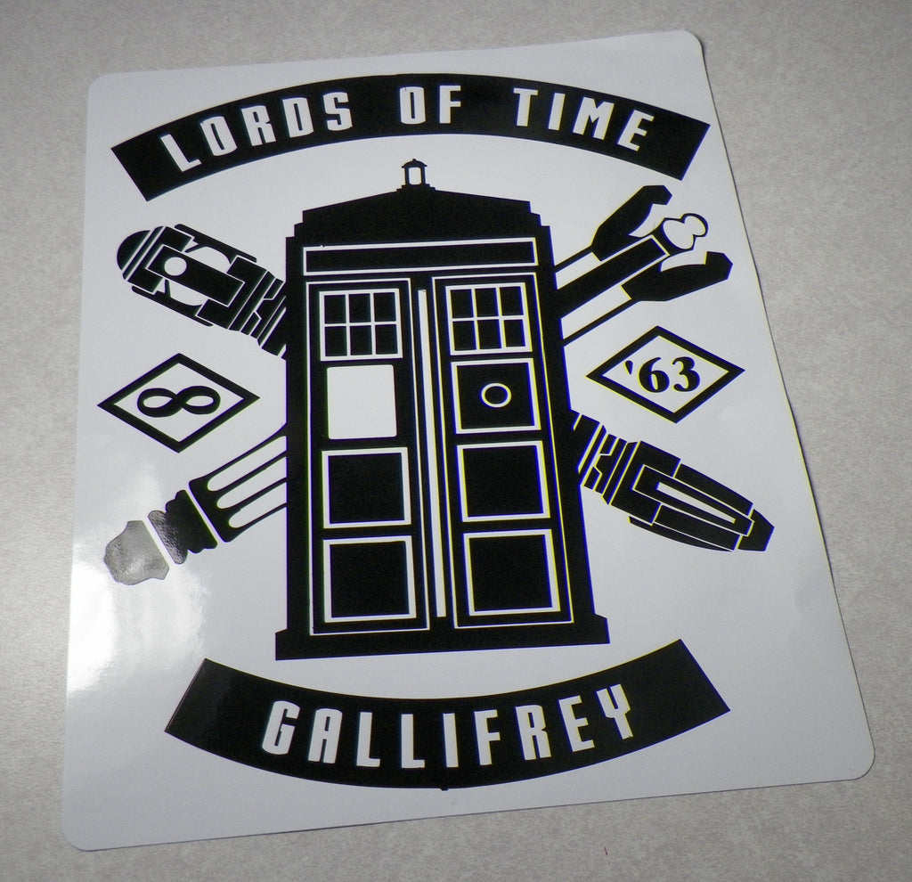 Doctor Who Tardis Lords of Time Gallifrey Whovian Die Cut Vinyl Sticker Decal