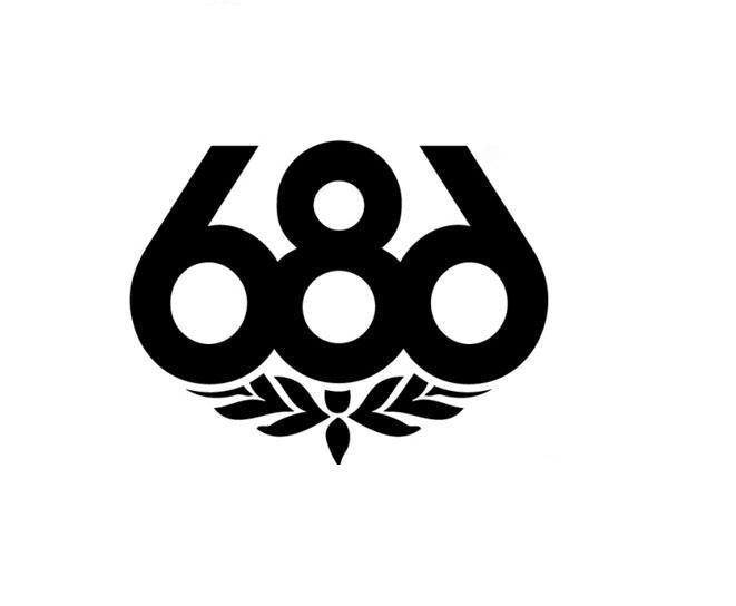 686 skateboard logo die cut vinyl sticker decal