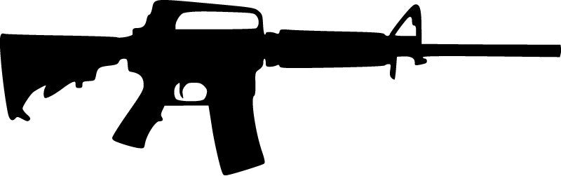 AR15 assault rifle - Die Cut Vinyl Sticker Decal