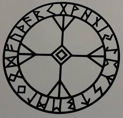 Algiz Viking Celtic Runes Elhaz Runic Amulet | Die Cut Vinyl Sticker Decal