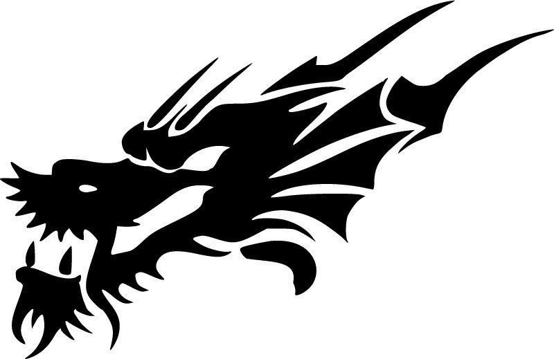 Asian Dragon JDM Racing | Die Cut Vinyl Sticker Decal | Sticky Addiction