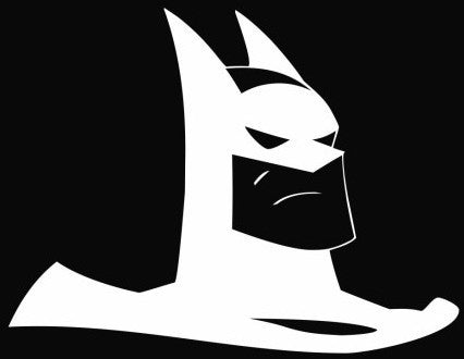 Batman Cartoon Head - Die Cut Vinyl Sticker Decal