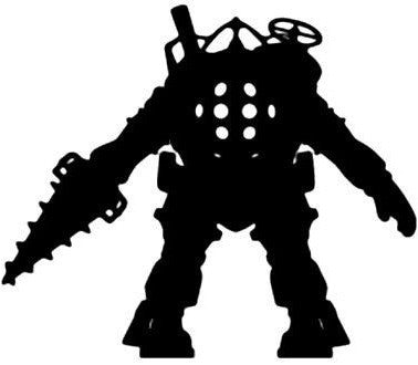 Big Daddy Silhouette, Bioshock - Die Cut Vinyl Sticker Decal