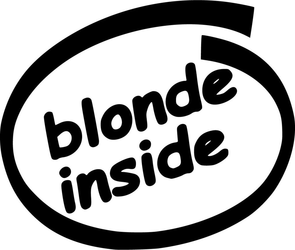 Blonde Inside JDM Racing | Die Cut Vinyl Sticker Decal | Sticky Addiction
