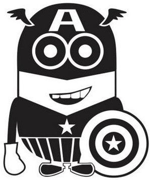 Despicable Me Captain America Minion Die Cut Vinyl