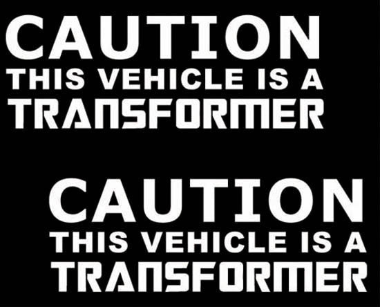Caution This Vehicle Is A Transformer JDM Racing | Die Cut Vinyl Sticker Decal | Sticky Addiction