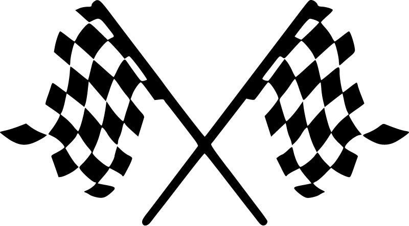 Checkered Flag JDM Racing | Die Cut Vinyl Sticker Decal | Sticky Addiction