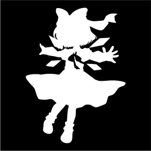 Cirno, Touhou Project - Die Cut Vinyl Sticker Decal