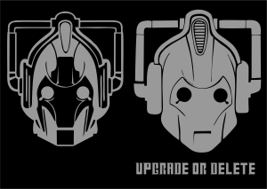 Cyberman Dr Who | Die Cut Vinyl Sticker Decal | Sticky Addiction