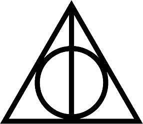 Deathly Hallows, Harry Potter - Die Cut Vinyl Sticker Decal