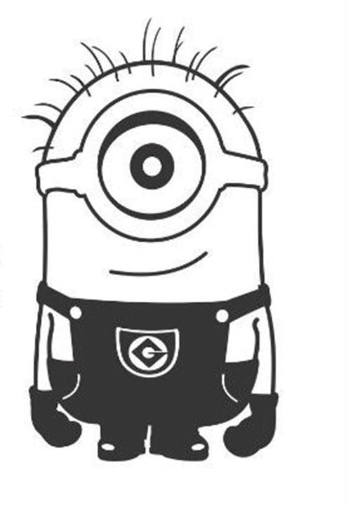 Despicable Me One Eyed Minion with Hands Down - Die Cut Vinyl Sticker Decal