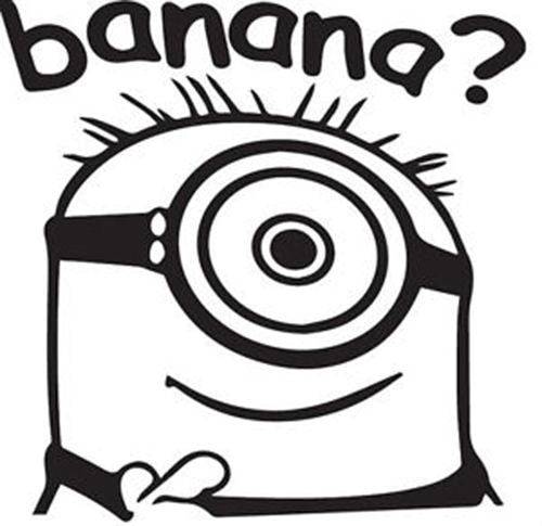Despicable Me Banana? Minion - Die Cut Vinyl Sticker Decal