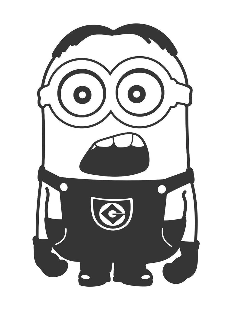 Despicable Me Alfalfa Head Minion - Die Cut Vinyl Sticker Decal