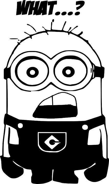 Despicable Me What...? Minion  - Die Cut Vinyl Sticker Decal
