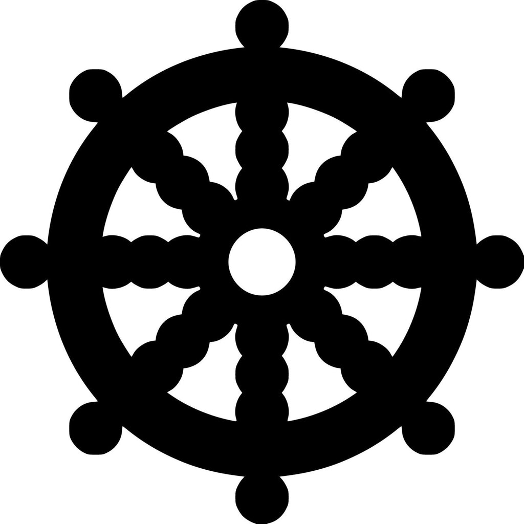 Dharma wheel, one of the oldest symbols of Buddhism - Die Cut Vinyl Sticker Decal