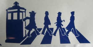 Doctor Who Abbey Road Tardis | Die Cut Vinyl Sticker Decal | Sticky Addiction