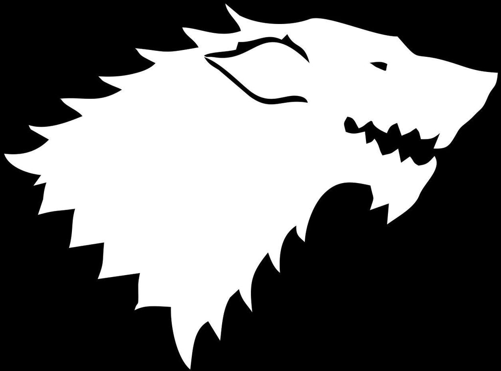 House Stark Logo, Game of Thrones  - Die Cut Vinyl Sticker Decal