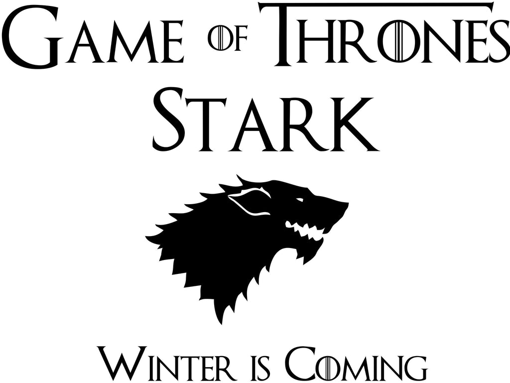 House Stark Winter is Coming logo, Game of Thrones  - Die Cut Vinyl Sticker Decal
