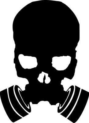 Skull in gas mask - Die Cut Vinyl Sticker Decal