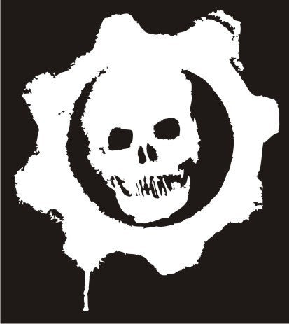 Gears of War Skull Logo | Die Cut Vinyl Sticker Decal | Sticky Addiction