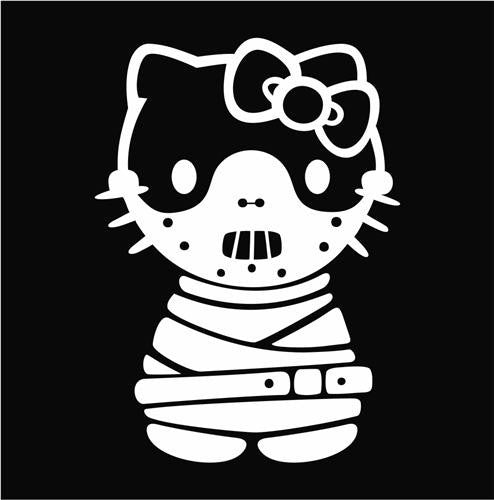 Hello Kitty Hannibal Lecter Die Cut Vinyl Sticker Decal