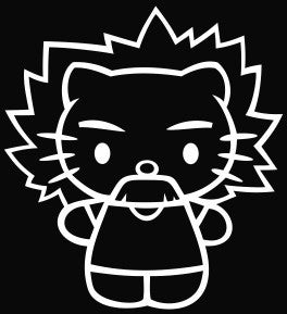 Hello Kitty Albert Einstein - Die Cut Vinyl Sticker Decal
