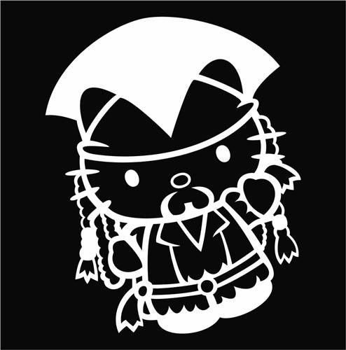 Hello Kitty Jack Sparrow Pirates of the Carribbean - Die Cut Vinyl Sticker Decal