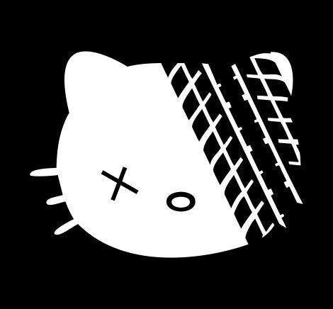 Hello Kitty Road Kill - Die Cut Vinyl Sticker Decal