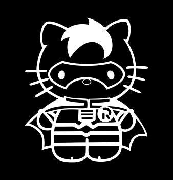Hello Kitty Robin from Batman - Die Cut Vinyl Sticker Decal