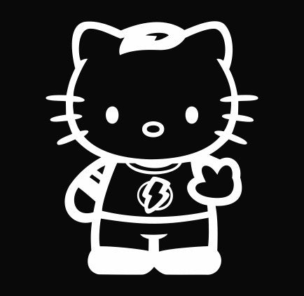 Hello Kitty Sheldon Cooper from the Big Bang Theory - Die Cut Vinyl Sticker Decal