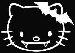 Hello Kitty Vampire - Die Cut Vinyl Sticker Decal
