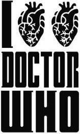 I Heart Doctor Who Love | Die Cut Vinyl Sticker Decal | Sticky Addiction