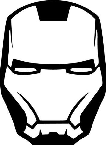 Iron Man Mask  | Die Cut Vinyl Sticker Decal | Sticky Addiction