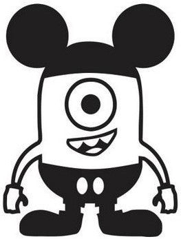 Despicable Me Mickey Mouse Minion - Die Cut Vinyl Sticker Decal