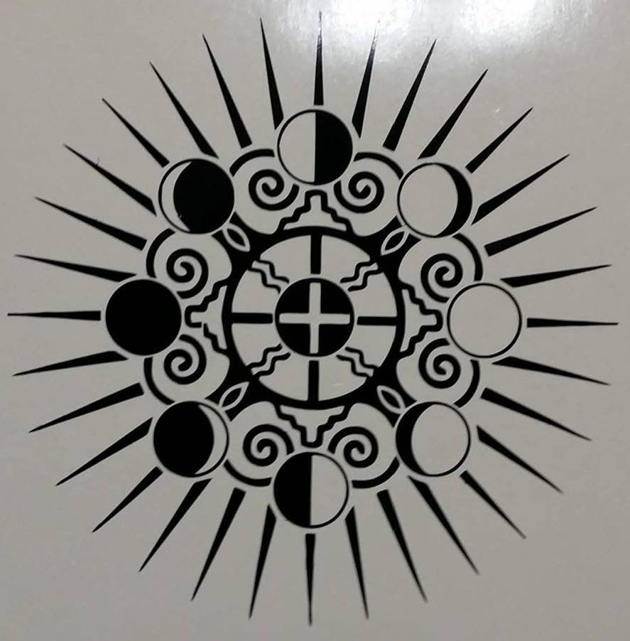 Moon Phases Earth Sun Yin Yang | Die Cut Vinyl Sticker Decal | Sticky Addiction