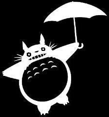 My Neighbor Totoro with umbrella - Die Cut Vinyl Sticker Decal