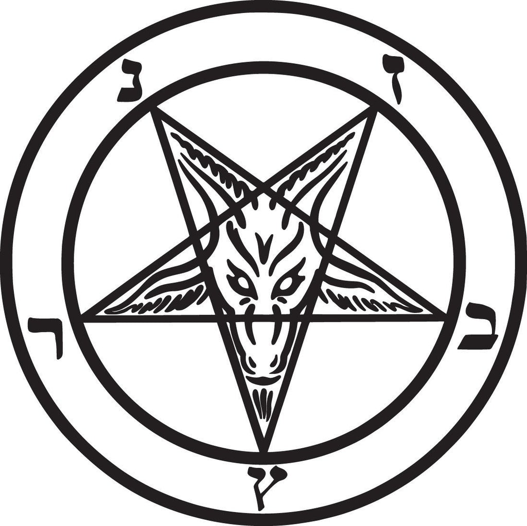 Baphomet Pagan Knights Templar Goat - Die Cut Vinyl Sticker Decal