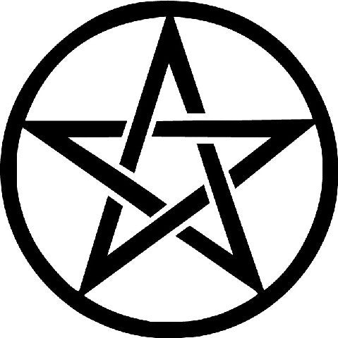 Pentacle Star Wiccan Pagan Symbol | Die Cut Vinyl Sticker Decal | Sticky Addiction