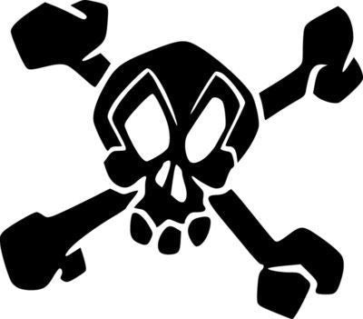 Skater Skull & Crossbones | Die Cut Vinyl Sticker Decal | Sticky Addiction
