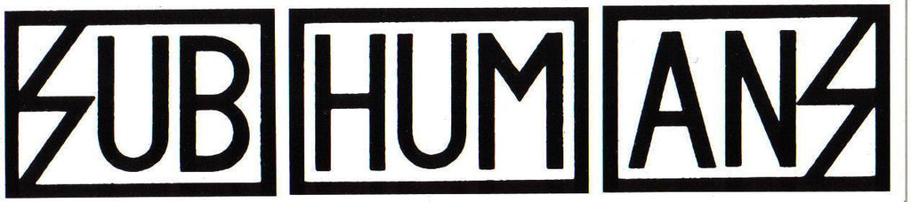 Subhumans Logo | Die Cut Vinyl Sticker Decal | Sticky Addiction